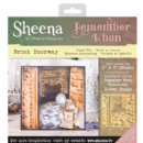 "Sheena Douglass - Remember When - 8"" x 8"" Stencil - Brick Doorway"